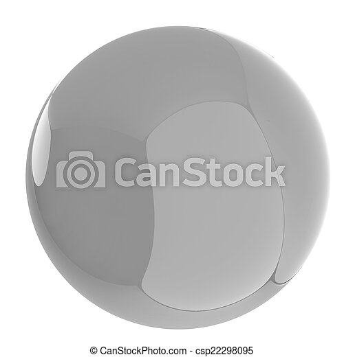 Glossy blue sphere - csp22298095