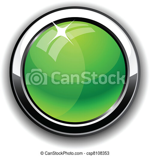Glossy button. - csp8108353