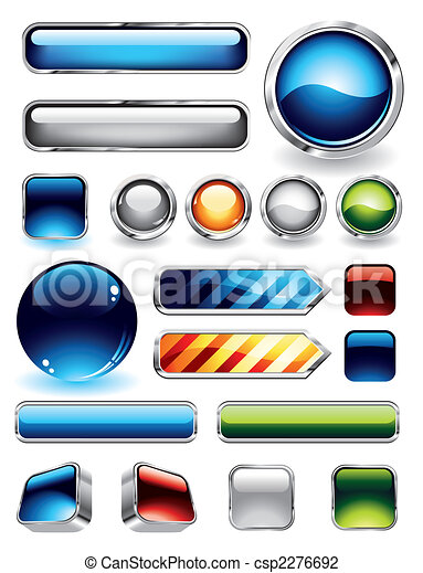 Glossy Buttons Collection - csp2276692