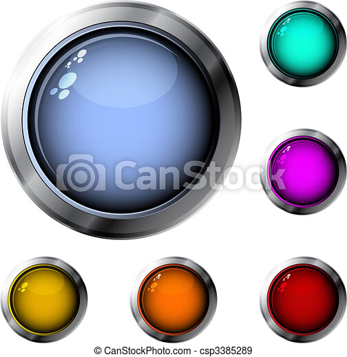 Glossy buttons - csp3385289