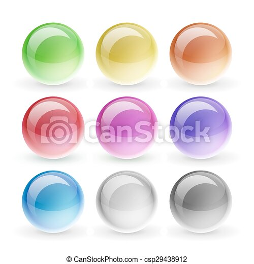 Glossy buttons set - csp29438912