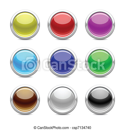 glossy buttons - csp7134740