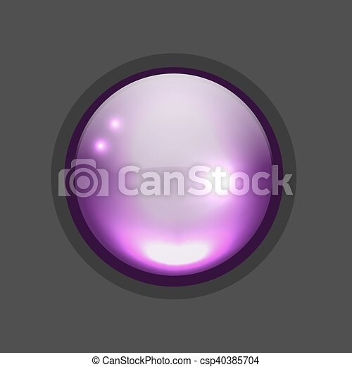 Glossy circle button for your design - csp40385704