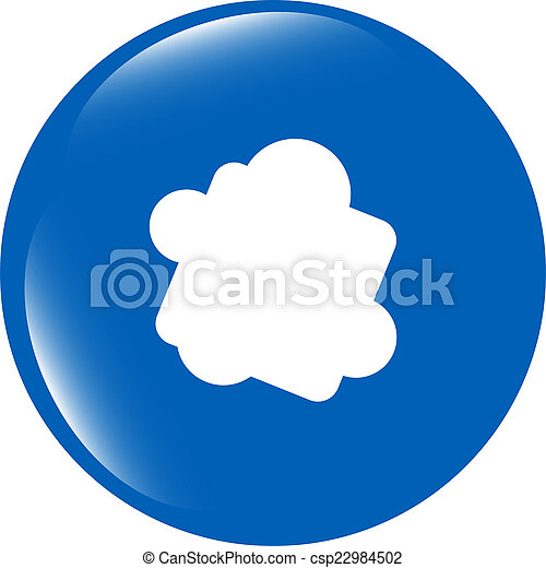Glossy cloud web button icon isolated on white background - csp22984502