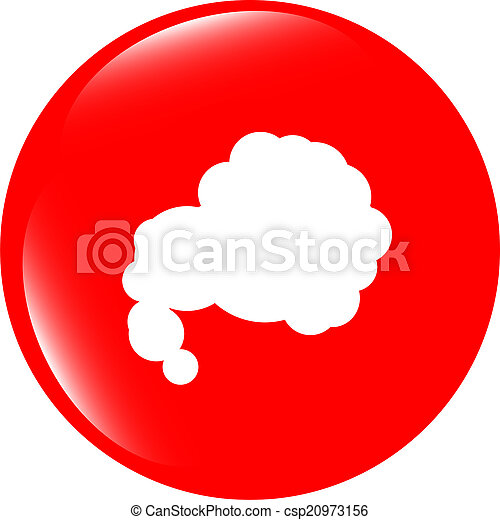 Glossy cloud web button icon - csp20973156