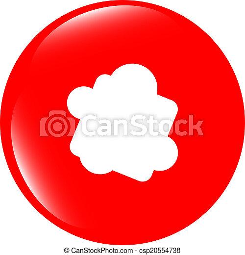 Glossy cloud web button icon - csp20554738