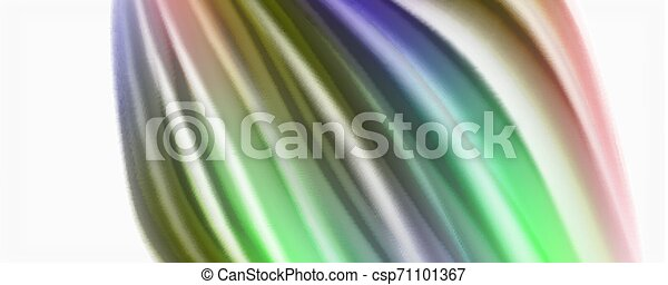 Glossy colorful liquid waves abstract background,, modern techno lines - csp71101367