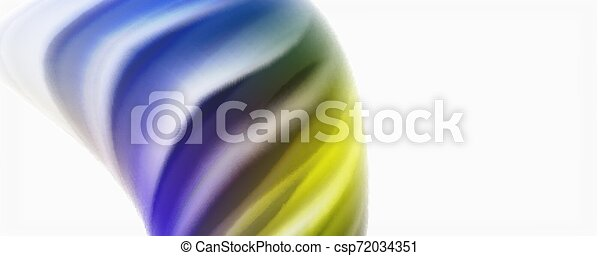Glossy colorful liquid waves abstract background,, modern techno lines - csp72034351