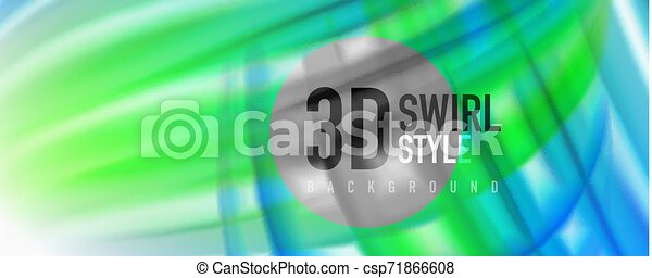Glossy colorful liquid waves abstract background,, modern techno lines - csp71866608