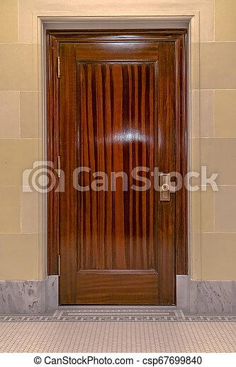 Glossy door inside Utah State Capital Building - csp67699840