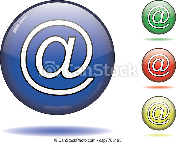 Glossy email button - csp7785195