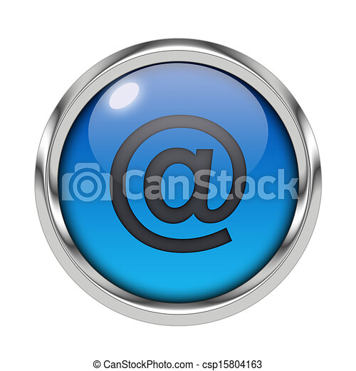 Glossy email icon - csp15804163