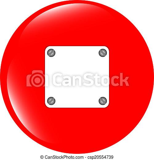 glossy empty speech bubble web button icon - csp20554739