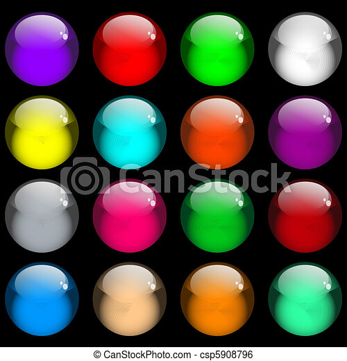 Glossy gel web buttons - csp5908796