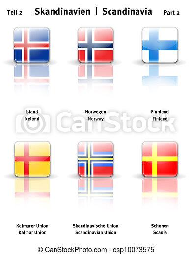Glossy  icons Scandinavia (Part 2) - csp10073575