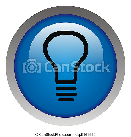 Glossy idea web icon design element. Electricity payment - csp9168680
