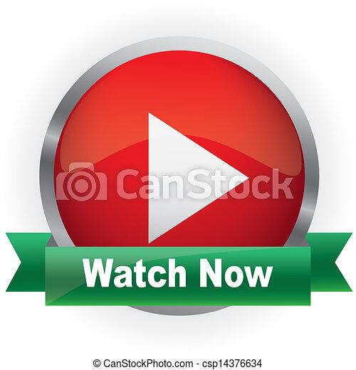Glossy media button - csp14376634