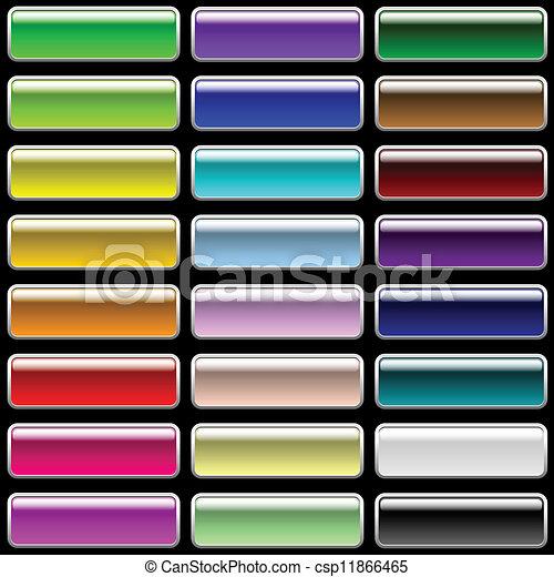 Glossy rectangular buttons - csp11866465