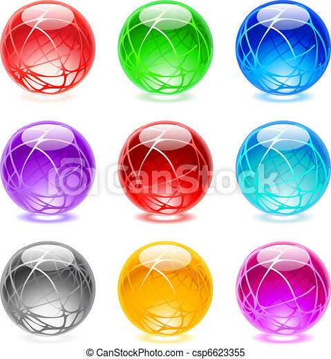 Glossy spheres - csp6623355