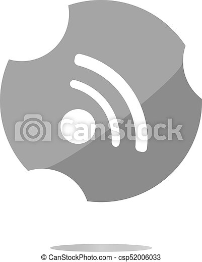 glossy web button with RSS feed sign - csp52006033