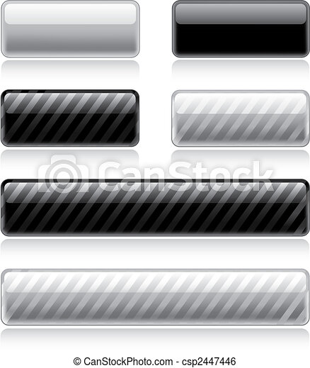 Glossy Web Buttons - csp2447446
