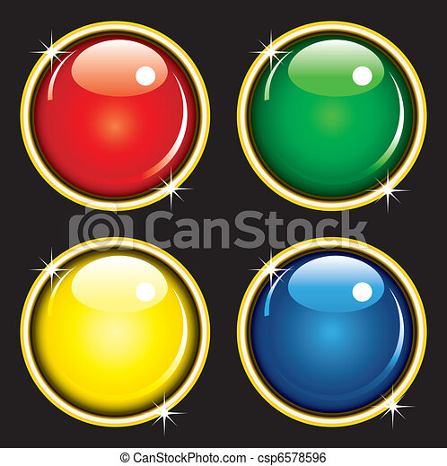 Glossy web buttons - csp6578596