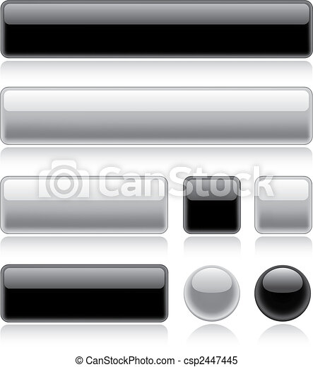 Glossy Web Buttons - csp2447445