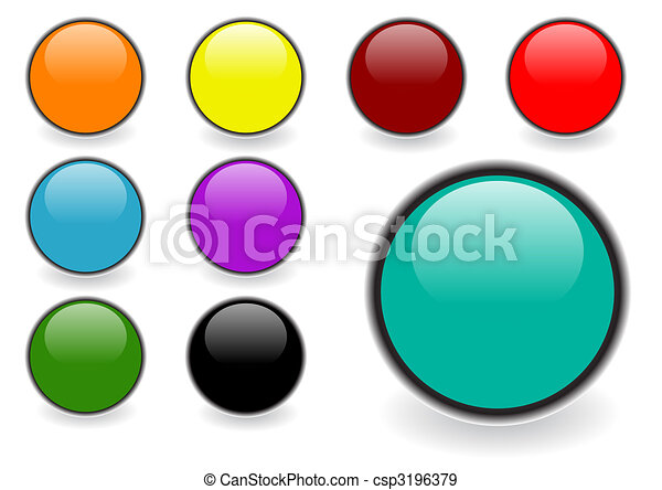 Glossy web buttons - csp3196379