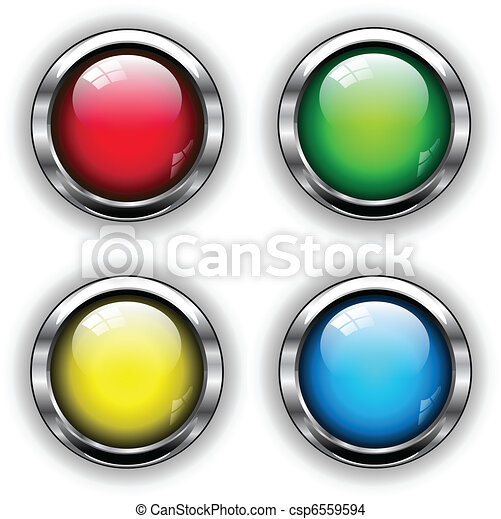 Glossy web buttons - csp6559594
