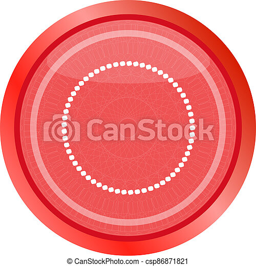 glossy web buttons with abstract circles . Flat sign isolated on white - csp86871821