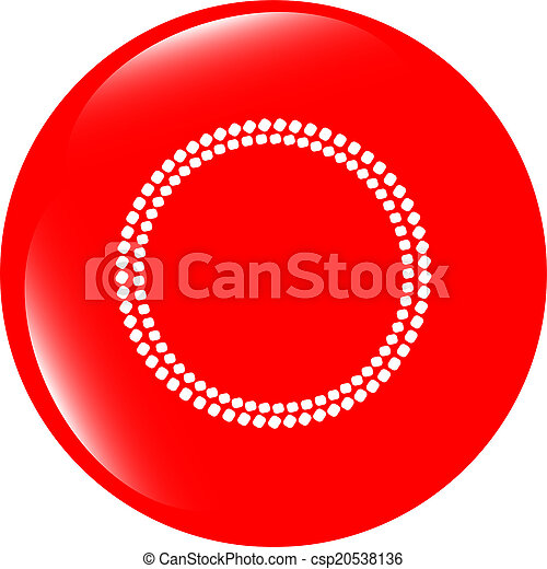 glossy web buttons with abstract circles - csp20538136