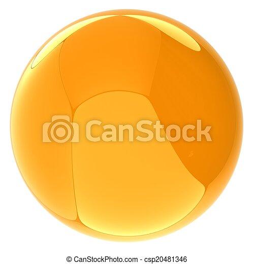 Glossy yellow sphere - csp20481346
