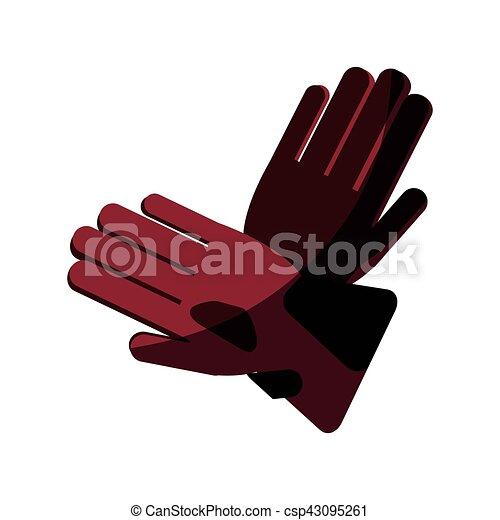 Glove of winter cloth design - csp43095261
