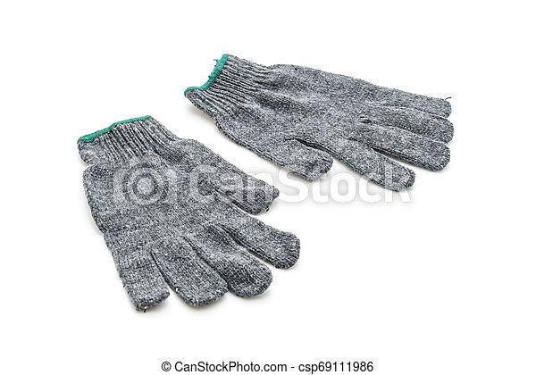 Gloves on white background - csp69111986