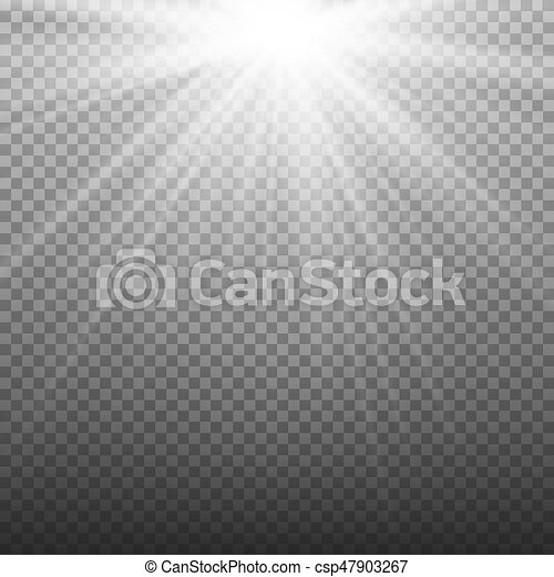 Glow Light Effect  Beam Rays Vector  Sunlight Special Lens Flare Light  Effect  Isolated On Transparent Background  Vector Illustration
