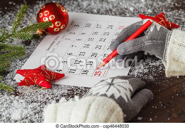 Weihnachten Datum.Glowes Markierung Datum Kalender Weihnachten Gils