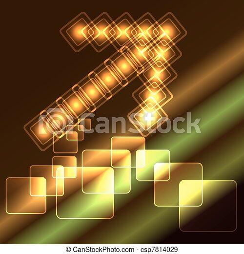 Glowing arrow - csp7814029