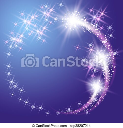 Glowing  background with stars - csp38207214