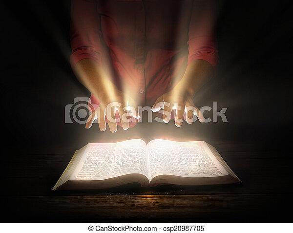 Glowing Bible - csp20987705