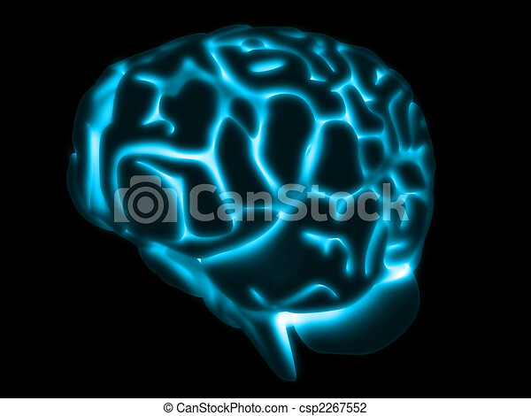 glowing brain - csp2267552