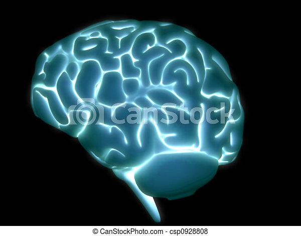 glowing brain - csp0928808