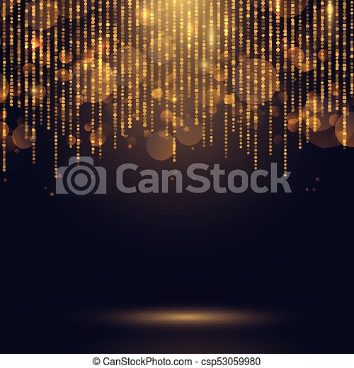 Glowing Christmas lights background - csp53059980
