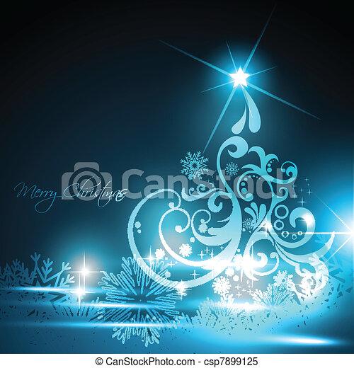 glowing christmas tree - csp7899125