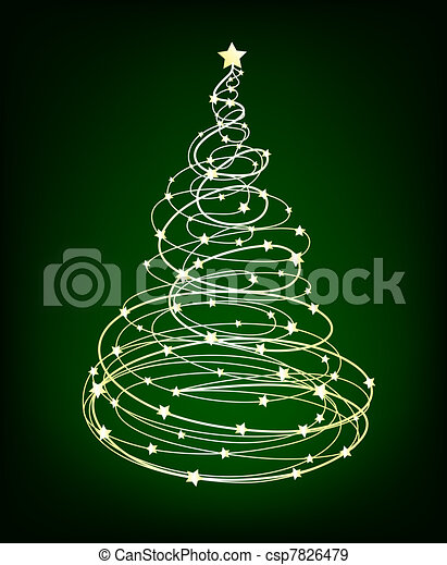 Glowing Christmas Tree - csp7826479