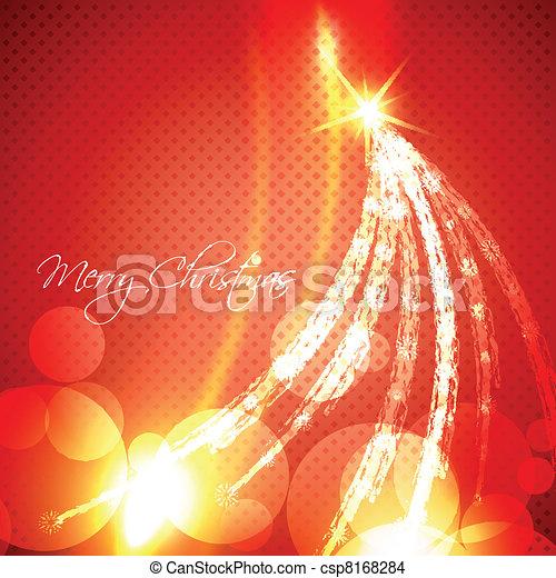 glowing christmas tree - csp8168284
