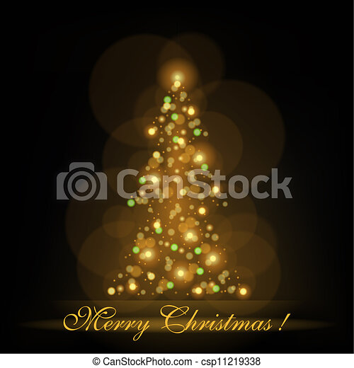 Glowing Christmas Tree - csp11219338
