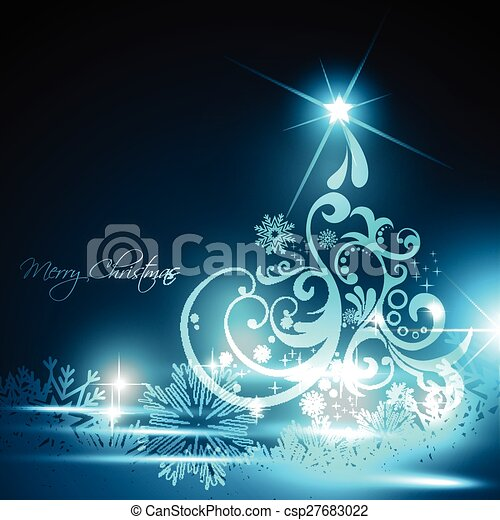 glowing christmas tree - csp27683022