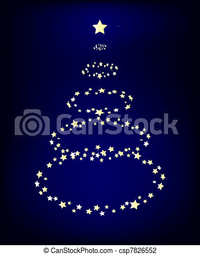 Glowing Christmas Tree - csp7826552