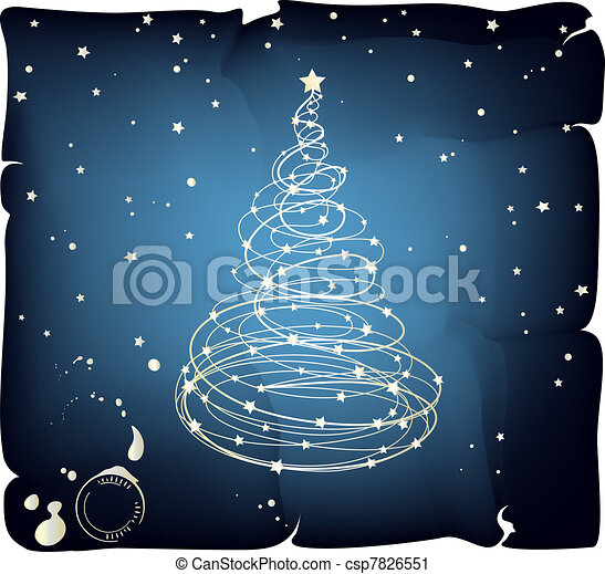 Glowing Christmas Tree - csp7826551