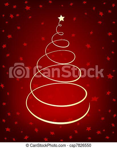Glowing Christmas Tree - csp7826550